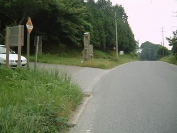 万田野林道入り口