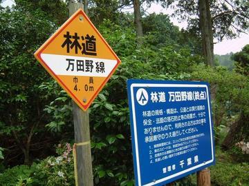 万田野林道終点