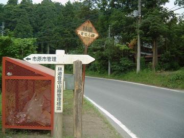音信山林道終点